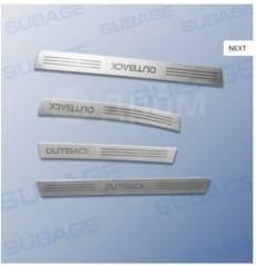 Накладки на пороги. Subaru Outback, BR9, BRF, BRM