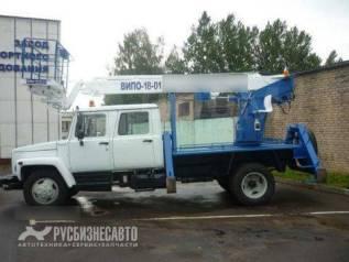 Випо-18. Автогидроподъемник ВИПО-18-01 на шасси ГАЗ-33081 (4х4) (5м. каб), 18,00м.
