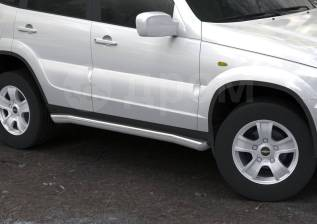 Накладка на порог. Chevrolet Niva, 21236 Двигатель BAZ2123. Под заказ