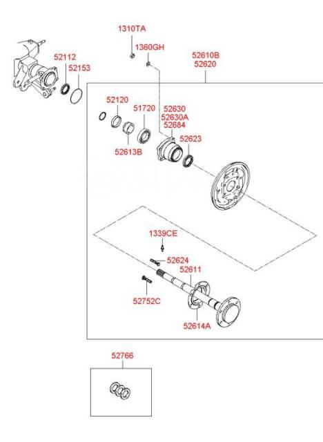 Сальник привода. Hyundai: HR, H1, Galloper, Starex, Porter II, H100, Porter, Terracan Kia Sorento, FY Двигатели: D4BA, D4BB, D4BF, D4BH, D4CB, 3500CC