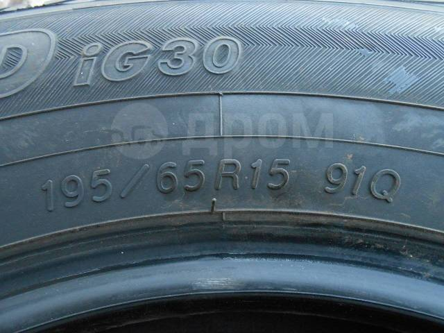 Yokohama Ice Guard IG30. Зимние, без шипов, 2008 год, 20 %, 4 шт