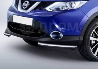 Защита бампера. Nissan Qashqai, J11 Двигатели: H5FT, HR12DDT, K9K, MR16DDT, MR20DD, R9M. Под заказ