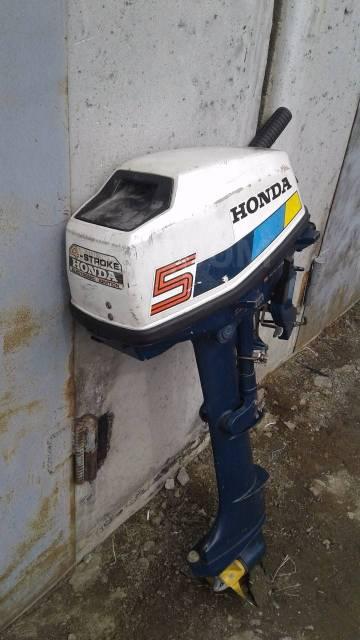 Honda. 5,00л.с., 4-тактный, бензиновый, нога L (508 мм), 2005 год год