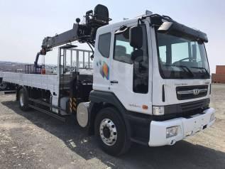 Daewoo Novus. 8 тонн 2018 год с КМУ HTS 2076 (аналог Hiab 190), 7 640куб. см.