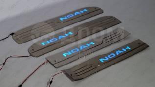 Накладка на порог. Toyota Noah, ZRR80G, ZRR80W, ZRR85G, ZRR85W, ZWR80G, ZWR80W