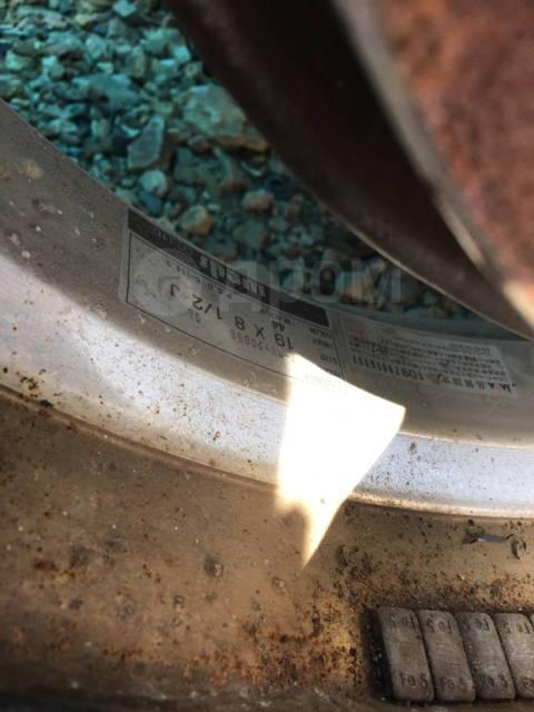"""С рубля! Литьё Weds R19, резина с огромным остатком. Без пробега по РФ. 8.5/9.5x19"""" 5x114.30"""