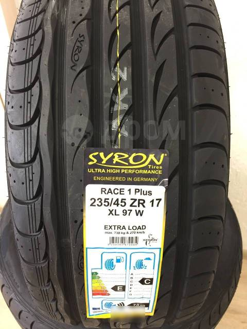 Syron Race 1 Plus. Летние, без износа, 4 шт