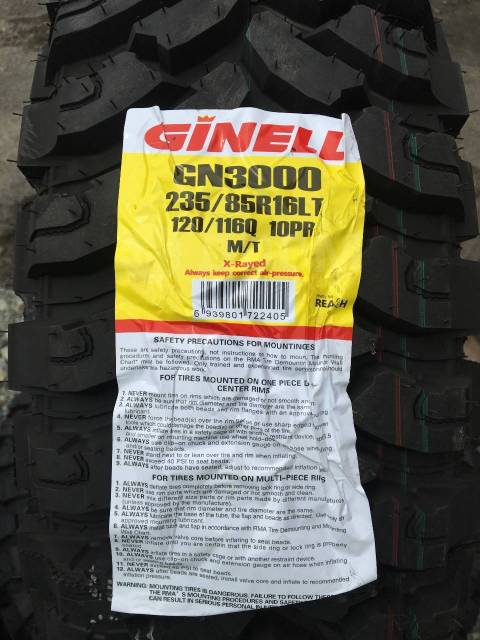 Ginell GN3000. Грязь MT, 2017 год, без износа, 4 шт