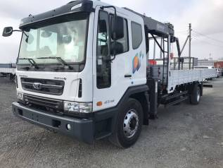 Daewoo Novus. 7 тонн 2017 года с краном манипулятором Horyong 156, 5 898куб. см., 7 000кг., 4x2