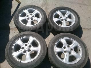 """205/65R15 лето Dunlop 50% + литье 5х114,3 6JJ ET45. 6.0x15"""" 5x114.30 ET45 ЦО 65,0мм."""