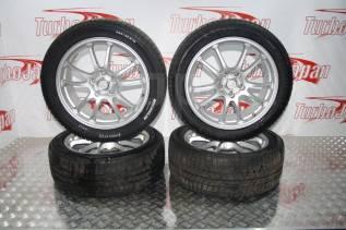"""Колеса диски литые Eco Forme 5x114.3 R18 + резина зима Michelin. 7.5x18"""" 5x114.30 ET53 ЦО 72,0мм."""
