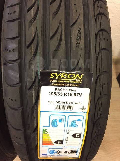 Syron Race 1 Plus. Летние, 2018 год, без износа, 4 шт