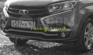 Накладка на бампер. Лада Х-рей Toyota Camry, ASV50, AVV50, GSV50, 50 Двигатели: H4M, BAZ21129, BAZ21179