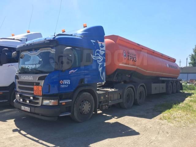 Scania P400. Продаю бензовоз тягач Скания с полуприцепом-цистерной, 12 740куб. см., 30 000кг., 6x4
