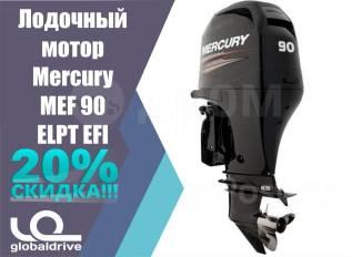 Mercury. 90,00л.с., 4-тактный, бензиновый, нога L (508 мм), 2018 год год