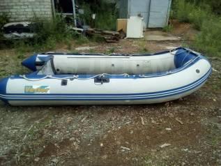 Продам лодку пвх вектор 360. длина 360,00м., двигатель без двигателя