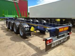 Steelbear. 4-х осный контейнеровоз SteelBear PF-41L-2 под 40-ку, 44 200кг. Под заказ
