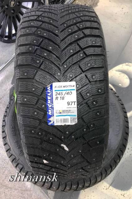 Michelin X-Ice North 4. Зимние, шипованные, без износа, 4 шт