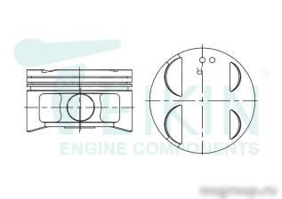 Поршень. Toyota: Windom, Sienna, Camry Gracia, Mark II Wagon Qualis, Camry, Pronard, Estima, Avalon, Harrier, Solara, Mark II, Kluger V, Highlander Le...
