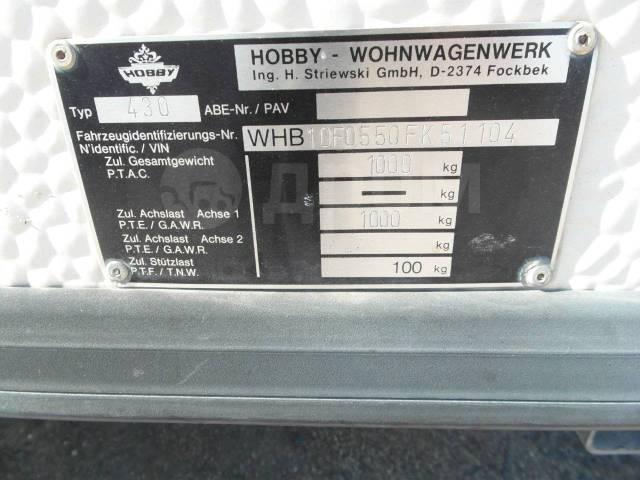 Hobby. Продается Кемпер 430 1990г