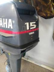Yamaha. 15,00л.с., 2-тактный, бензиновый, нога S (381 мм), 2004 год
