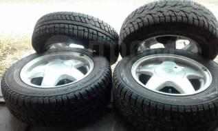 2 колеса Cordiant и 2 колеса Toyo, 185 x70 D14. Зимние, шипованные, 2017 год, 5%, 4 шт