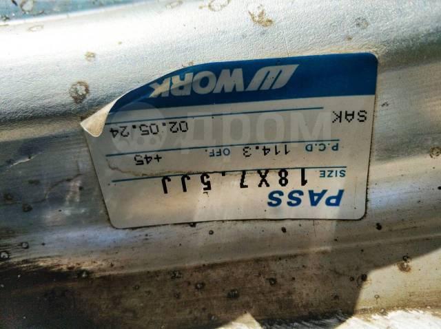 """15732 Кованые хром диски WORK Seeker CX R18, 7.5+45, 5x114.3 + ШИНЫ. 7.5x18"""" 5x114.30 ET45"""