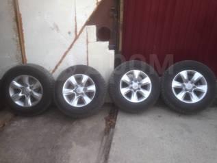 """Комплект зимних колёс Dunlop 265/65r17 на Литье Prado в Хабаровске. 7.5x17"""" 6x139.70 ET25"""