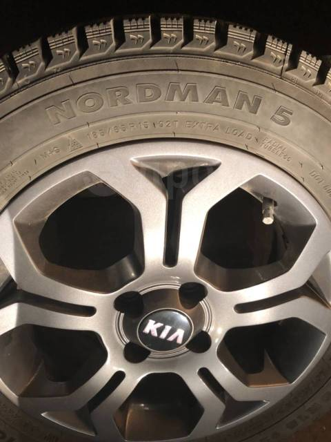 Новые зимние шины Nordman5 + диски KIA R15 | 185/65 | PCD4*100 |. 4x100.00 ET48 ЦО 54,1мм.