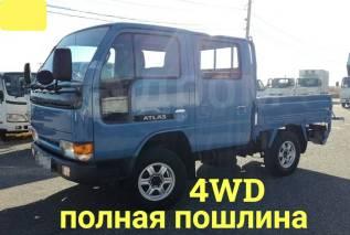 Nissan Atlas. 4WD, двухкабинник+ аппарель, 2 700куб. см., 1 500кг., 4x4