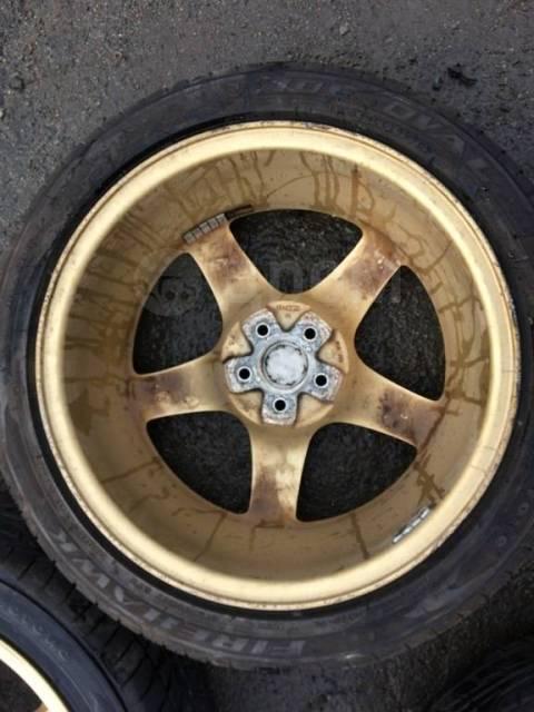 """Колеса Кованые легкие диски Rays STI R17 + Резина Firestone 215/45 лет. 7.0x17"""" 5x100.00 ET55"""