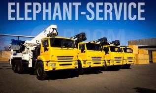 Horyong Sky. Автовышка Elephant-Horyong E-SKY 450 на шасси Камаз 43118 - 6x6, 45,00м.