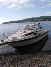 Аренда катера, отдых, рыбалка, кальмар, доставка на рейд ВладивостоК. 8 человек, 60км/ч