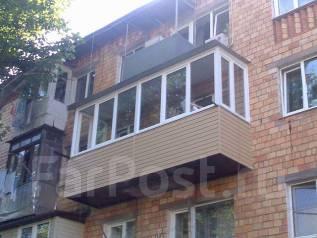 Остекление, расширение и пристройка балконов, отделка балконов и лоджий