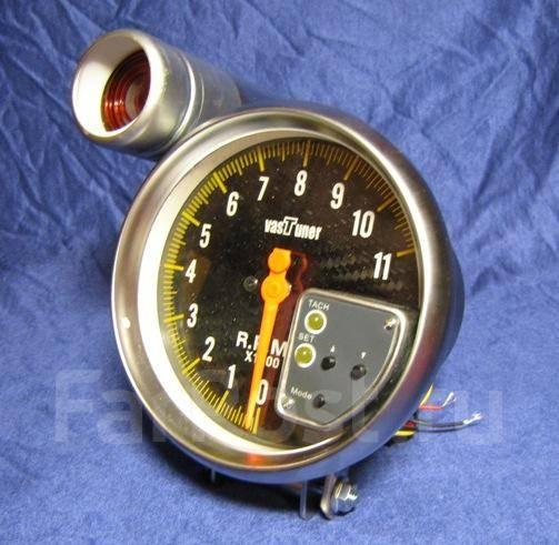 """Датчик Vastuner 5"""" тахометр с шифт лампой (карбон)."""