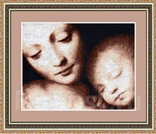 Мадонна с младенцем вышивка крестиком