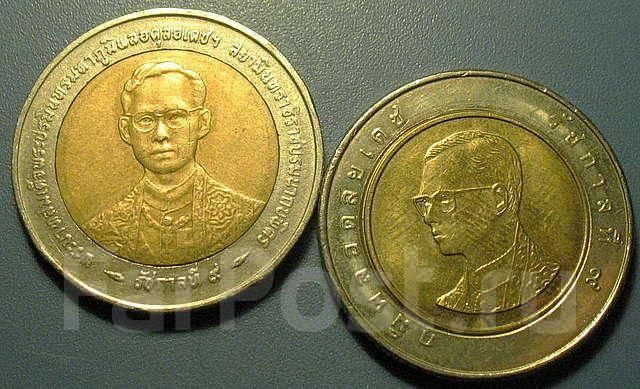 Монета биметалл лупа большого диаметра