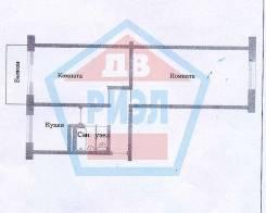 2-комнатная, Адмирала Юмашева 18а. Баляева, агентство, 44кв.м. План квартиры