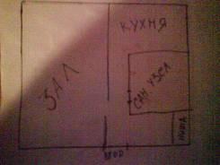 1-комнатная, Черемуховая 18а. Чуркин, частное лицо, 31,0кв.м. План квартиры