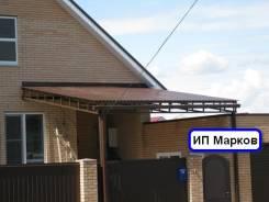 Навесы из поликарбоната , заборы, ворота, гаражи . Расширение балко