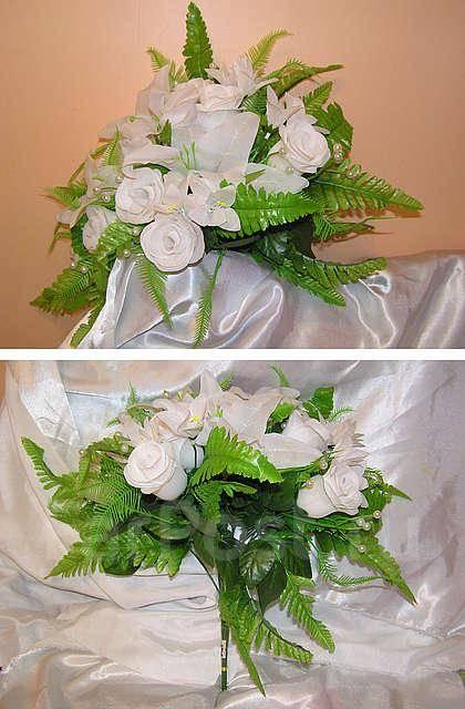 Белые лилии с розами букете, магазин цветы фантазия спб