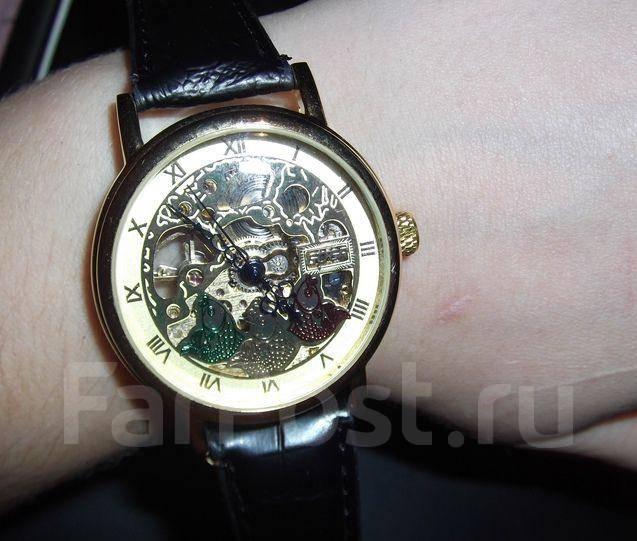 Часы унисекс с прозрачным механизмом