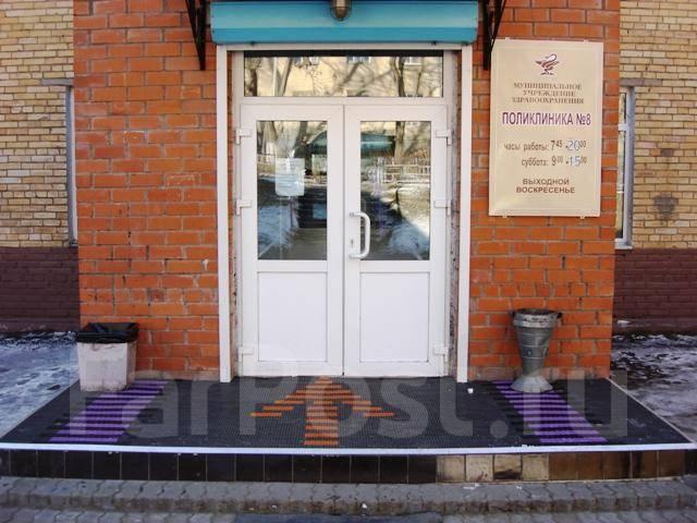 Установка грязезащитной системы в Поликлинике №8. Тип объекта публичные заведения