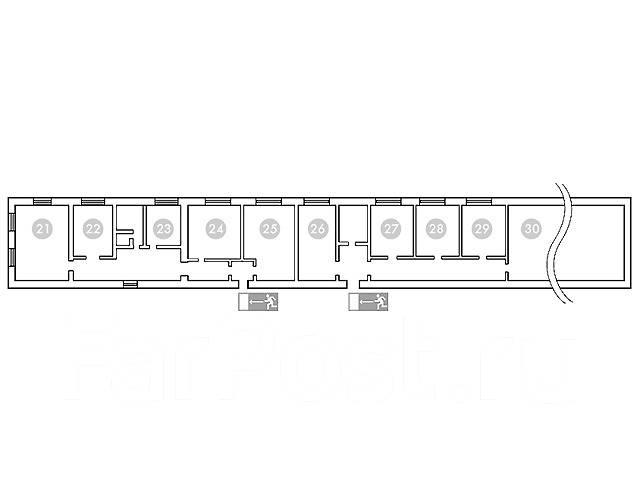 Офисные помещения. 15 кв.м., улица Маслакова 10 б, р-н Магазин «Радуга». План помещения