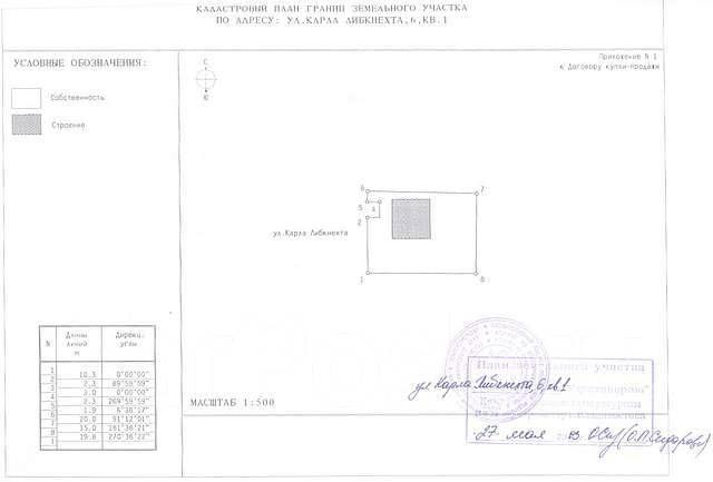 Продается земельный участок под жилой дом - ул. Карла Либкнехта, 6. 294 кв.м., собственность, электричество, вода, от частного лица (собственник). До...