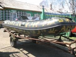 Продам лодку надувную (6 мест). длина 4,20м., двигатель без двигателя