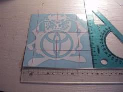 Наклейка Тасманский дьявол c логотипом Тоyota