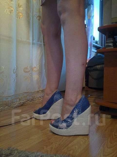 cb7fb005d Джинсовые туфли на танкетке - Обувь во Владивостоке