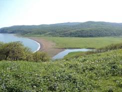 Земельный участок у моря в 12,5 км. от поселка Амгу Тернейского района. 152 590 кв.м., собственность, вода. Фото участка