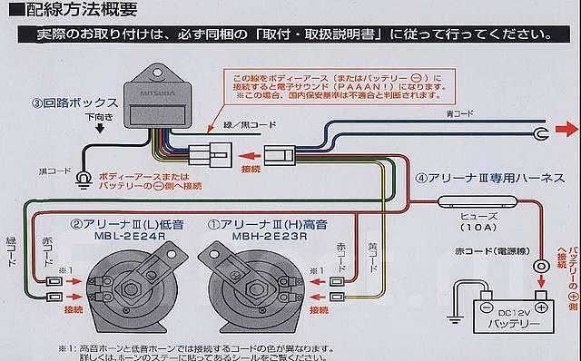 arena horn wiring diagram Супер Сигналы mitsuba dolce horn 2,made in japan. Ссылка на звук - gt и тюнинг во Владивостоке